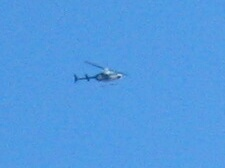 closeup of one of the helicopters
