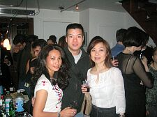 with new friends at adam's party in the LES